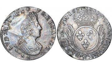 France Kingdom, Louis XIV the Great, 1643-1715, 1/12 Ecu (10 Sols) 1694, Montpellier