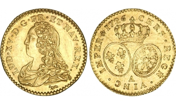 France Kingdom, Louis XV the Well-Beloved, 1715-1774, 1/2 Louis d'or 1726, Paris