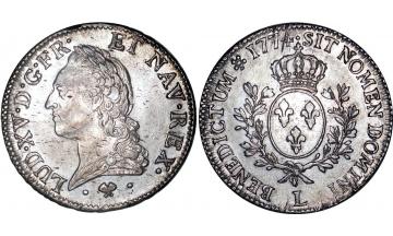 France Kingdom, Louis XV the Well-Beloved, 1715-1774, Ecu 1774, Bayonne