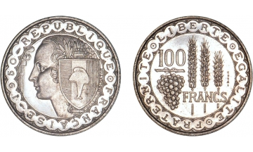 France, Fourth Republic, 100 Francs 1950, ESSAI by Bazor