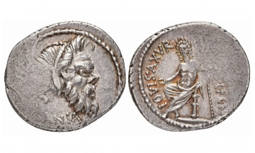 Roman Republic, C. Vibius C.f. C.n. Pansa Caetronianus, 48 BC, Denarius, Rome