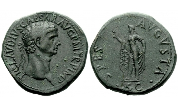 Roman Empire, Claudius augustus, 41–54, Sestertius ca. 41-50, Rome, from the Steinberg and Chiltern collections