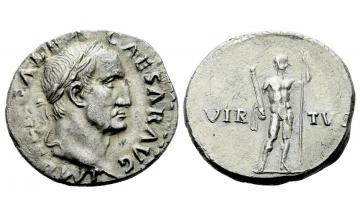 Roman Empire, Galba, 68–69, Denarius ca. July 68 - January 69, Rome, from the A. Lynn collection