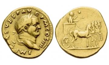 Roman Empire, Vespasian, 69-79, Aureus 72-73, Rome