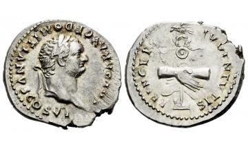 Roman Empire, Domitian caesar, 69 – 81, Denarius 79, Rome