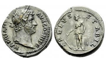 Roman Empire, Hadrian augustus, 117–138, Denarius ca. 133-135, Rome