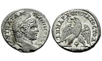 Roman Empire, Caracalla augustus, 198-217, Tetradrachm ca. 213-217, Tyre