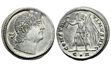 Roman Empire, Constantine II augustus, 337–340, Siliqua ca. 337-340, Constantinople
