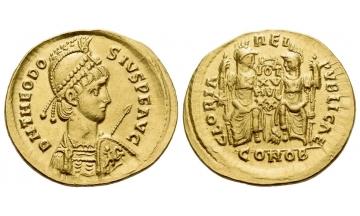 Theodosius II, 402–450, Solidus 415, Constantinopolis