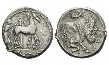 Sicily, Gela, Tetradrachm ca. 465-460 BC
