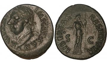 Roman Empire, Vitellius, 69, As, Tarragone