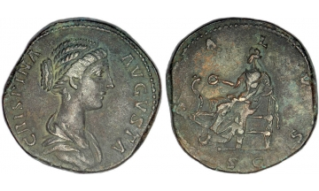 Roman Empire, Crispina, 178-191, Sestertius, Rome