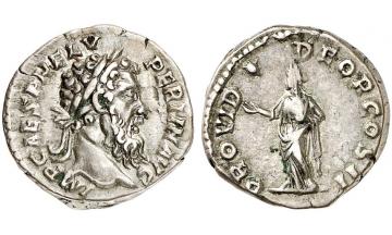 Roman Empire, Pertinax, 193, Denarius, Rome