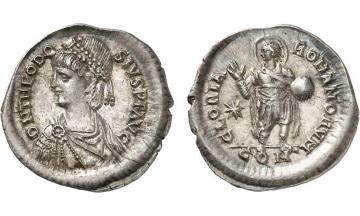 Byzantine Empire, Theodosius II, 402-450, Light Miliarensis, Constantinople