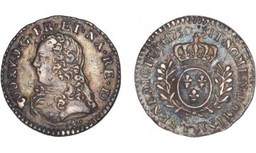 France Kingdom, Louis XV the Well-Beloved, 1715-1774, 1/20 Ecu 1730, Pau