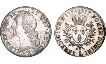 France Kingdom, Louis XV the Well-Beloved, 1715-1774, Ecu 1766, Bayonne