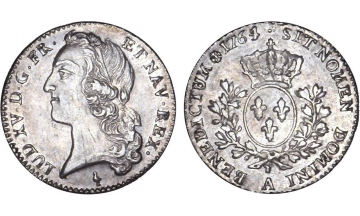 France Kingdom, Louis XV the Well-Beloved, 1715-1774, 1/5 Ecu 1764, Paris