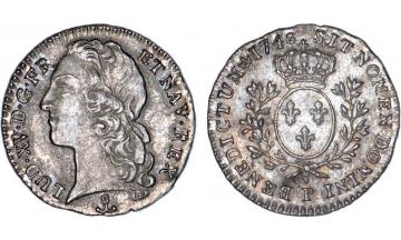 France Kingdom, Louis XV the Well-Beloved, 1715-1774, 1/10 Ecu 1748, Dijon