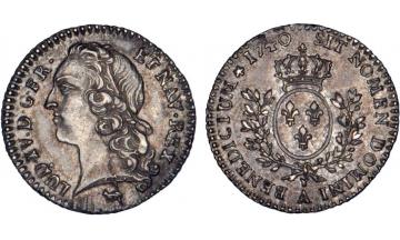 France Kingdom, Louis XV the Well-Beloved, 1715-1774, 1/20 Ecu 1740, Paris