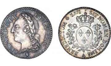 France Kingdom, Louis XV the Well-Beloved, 1715-1774, 1/10 Ecu 1771, Paris