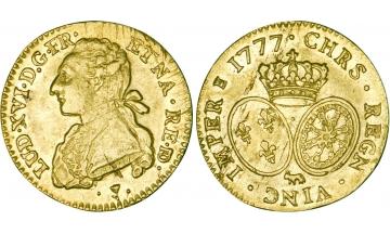 France Kingdom, Louis XVI, 1774-1792/93, Louis d'or 1777, Pau