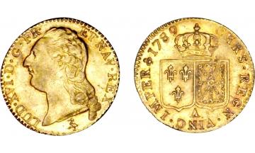 France Kingdom, Louis XVI, 1774-1792/93, Louis d'or 1789, Paris