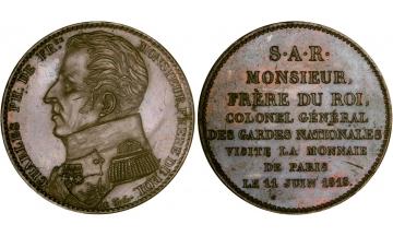 France, Restoration, Charles X, 1824-1830, 5 Francs 1818, Paris