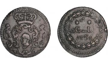 France, Corsica, Pascal Paoli, 1762-1768, 4 Soldi 1765, Murato