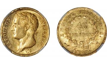 France, Napoleon Bonaparte, 1804-1814, 40 Francs 1809, Toulouse