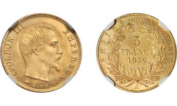 France, Second Empire, Napoleon III, 1852-1870, 5 Francs 1856, Paris