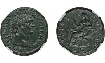 Roman Empire, Trajan, 98-117, Dupondius, Rome