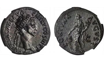 Roman Empire, Nerva, 96-98, Dupondius, Rome