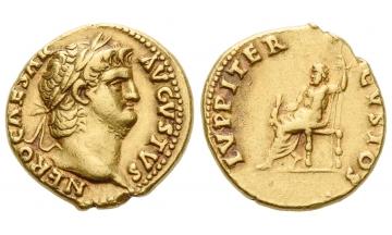 Roman Empire, Nero augustus, 54–68, Aureus 64-65, Rome