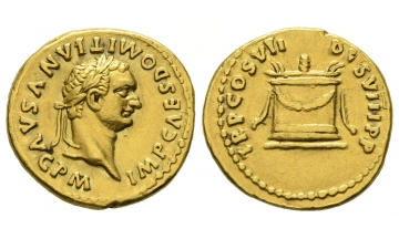 Roman Empire, Domitian, 81-96, Aureus 81