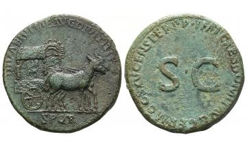 Roman Empire, Domitian, 81-96, Sestertius 90-91, Rome