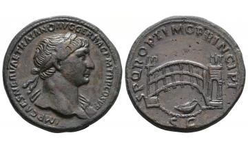 Roman Empire, Trajan, 98-117, Sestertius 107-110, Rome