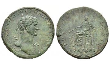 Roman Empire, Hadrian, 117-138, Sestertius 118, Rome