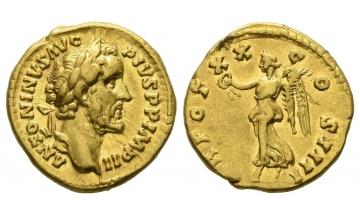 Roman Empire, Antoninus I. Pius, 138-161, Aureus 156-157, Rome