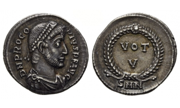 Roman Empire, Procopius, 365-366, Siliqua, Nicomedia