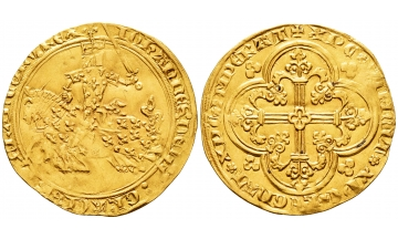 France, Jean II le Bon, 1350-1364, Franc à cheval ND (5 December 1360), Charming details