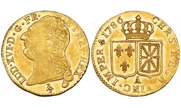 France, Louis XVI, 1774-1793, Louis d'or à la tête nue 1786 A, Paris
