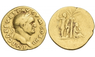 Vespasian, 69 – 79, Aureus 72-73, Rome