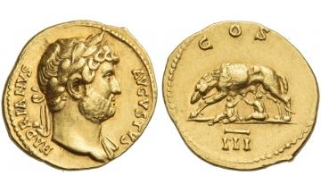 Hadrian augustus, 118 – 137, Aureus 125-128, Rome