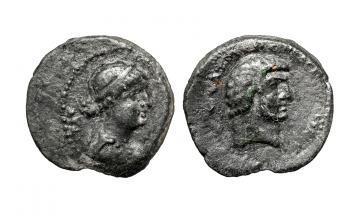 Coele-Syria, Chalcia ad Libanum, Mark Antony & Cleopatra 32-31 BC, AE 22