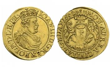 Poland, Danzig City, Johann III. Sobieskis (1674-1696), Ducat, 1692