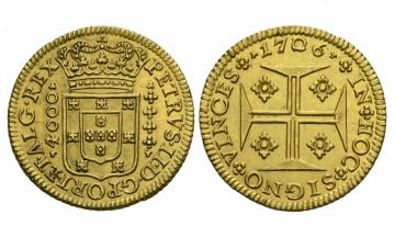 Portugal, Peter II. (1683-1706), 4800 Reis, 1706, Lissabon