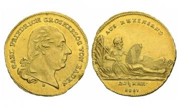 Baden, Karl Friedrich (1746-1811), Ducat ( Rheingold), 1807