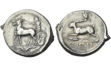 Sicily, Zankle as Messana, Tetradrachm, circa 412-408