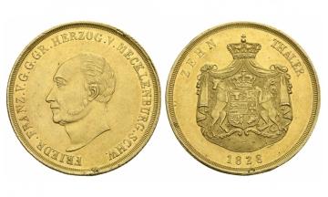 Mecklenburg, Friedrich Franz I. (1785-1837), 10 Taler (Doppelpistole), 1828