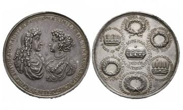 Bavaria, Max. II. Emanuel (1679-1726), Silvermedal, 1686